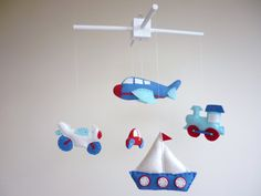 On the Go  Transport Baby Mobile  Crib Mobile by MaisieMooNZ, $75.00