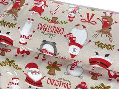 Stoff Baumwolle - Mix Weihnachten Weihnachtsstoff Rentiere Elche Hirsche  9120