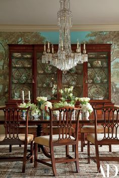 Oscar Shamamian Remakes a Star-Studded Los Angeles Residence. Vintage ChandelierEmpire ChandelierTraditional Dining ... & Buying a Dining Room Table - Better Homes u0026 Gardens - BHG.com ...