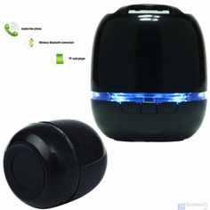 14.90€ Specifications:  Bluetooth Version: V3.0+EDR MIC Talk Bluetooth technology Operating Range: 32.8ft / 10 meter Microphone: Yes Loudspeaker output: 3W Signal to Noise Ratio(SNR): 95db Sensitivity:120dB +/- 30dB Supports Music Format: MP3, WMA, FLAC, APE etc. Power Supply: Built-in Battery Built-in Battery Capacity: 500MA Compatible With cellphones, iPad, iPod etc. devices coming with bluetooth Other Features: Support TF card up to 32GB/Supports NFC Function Supper mini si...