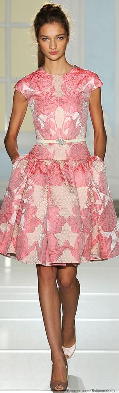 Temperley London | S/S 2014 Fabric to GRAVE. Is she wearing 2 different colored shoes or am I half asleep?