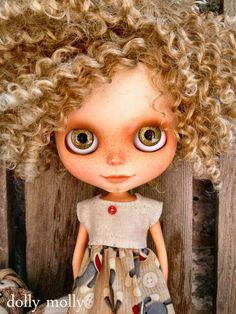 dolly molly MONKEY sock dress for BLYTHE doll by dollymolly