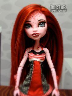 Custom Monster High Doll - Caroline Cretaceous by DoctorFrankendesign