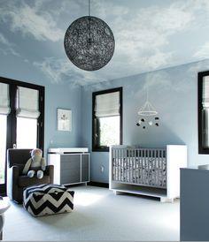boys room : light fixture : window treatments : color palette : ceiling design