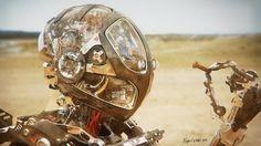Brain Bot by Pablo Castaño (Ele Te Ce Dateando!).More robots here.
