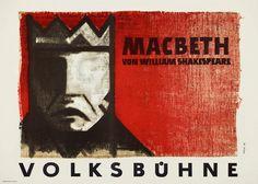 Roman Weyl  -  Macbeth by William Shakespeare, 1959. DDR, Berlin. Konsum Druck, Berlin-Spindlersfeld.