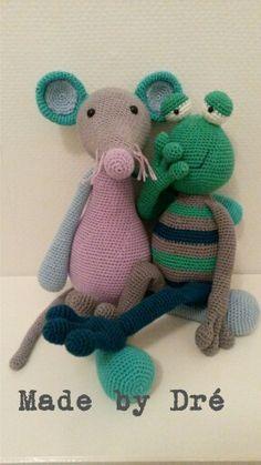 Kikker Kobus heeft muis Pien een geheim toevertrouwd #stipenhaak