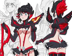 Random sketches,doodles, scrawl About demon hunter Hinata, Five Nights At Anime, Kill A Kill, Cute Anime Pics, Fanarts Anime, Cartoon Art Styles, Art Reference Poses, Aesthetic Art, Female Art
