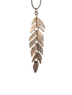 Freda Rose Feather Necklace $10.77