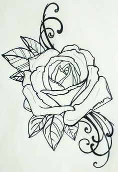 tattoo rose [this would be perfect for my shoulders to finish out my chest piece!]