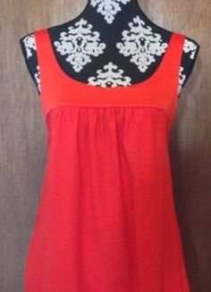 red tunic with pockets and back bow #vinted #top #tunic #red #redtop #redtunic #bow #pockets