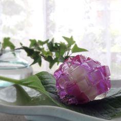 "Japanese sweet ""Hydrangea"" 上生菓子 「紫陽花」"