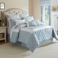 Winslet Comforter Set in Blue
