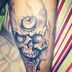 Third eye skull tattoo