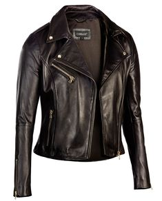 875ef0b814e Biker Leather Jackets for : Trendy fashion with sophisticated extras Black- Corbani-Womens-Asymmetrical-Zip-Biker-Leather-Jacket-