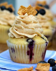 Blueberry Cinnamon Toast Crunch Cupcakes by Your Cup of Cake