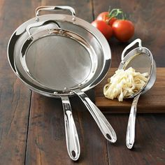 All-Clad 3-Piece Stainless-Steel Strainer Set #williamssonoma