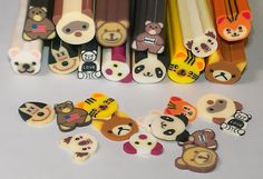 Polymer Fimo Clay Cane Assorted Bear by GimmeMoreAccessories, $3.00