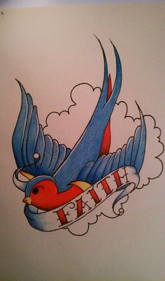 Sailor Jerry style Swallow