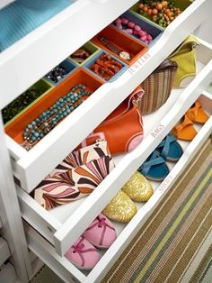 GREAT idea for accessories and summer shoes!... Maybe I can store wallets in something like this..