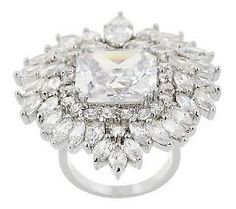 Joan Rivers Regal Crest Cocktail Ring