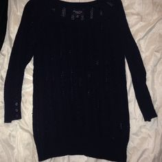 American eagle sweater Very cute Navy blue 3/4 sleeve sweater. Button details on sleeves. American Eagle Outfitters Sweaters