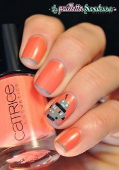 #Nailstorming #nail #nails #nailart #coral #catrice #meetmeatcoralisland #robot #lapaillettefrondeuse