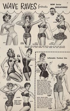 1956 Frederick's of Hollywood Catalog Designer to The Stars Fashions Lingerie | eBay