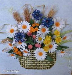Картина, рисунок, панно Бумагопластика, Квиллинг: Полевые цветы Бумага. Фото 1
