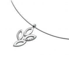 Reiner Edelstahl mit feinen Diamanten und edlen Steinen: Anhänger L= 42mm, 3 Brillanten 0,015 ct 031501G0