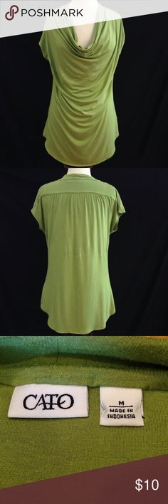 Cato Cowl Front Top Bust 38 Length 26.5 This top is in great condition. no rips, stains or holes Cato Tops Blouses