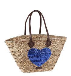 Capazo De Mimbre Detalle Corazón Lentejuelas, Sakelo.com Trending Topics, Straw Bag, Bags, Fashion, Foot Prints, Suitcases, Sequins, Purses, Hearts