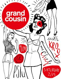 Grand Cousin show poster on Behance
