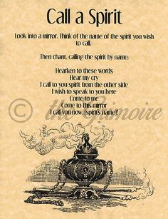 Call a Spirit Spell, Book of Shadows Page, BOS Pages, Summoning Spells, Wicca …