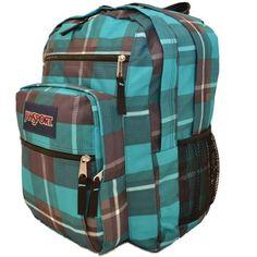 Jansport Big Student Backpack Blue Gray Duke Plaid Bag School Book Men Women Boy #Jansport #Backpack #OrlandoTrend
