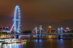 https://flic.kr/p/TRiYjs | The London Skyline | It was my first visit to London and I was pleasantly surprised to discover how beautiful the London skyline was, especially at night. This is the view from the Waterloo Bridge, looking at The Eye, teh Golden Jubilee Bridge and Westminster and Big Ben in the background.