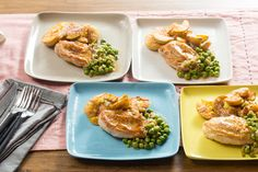 Recipe: Pan-Seared Chicken  with Crispy Smashed Potatoes & Braised Peas - Blue Apron