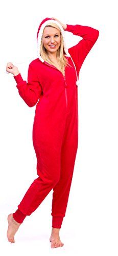 Totally Pink Women's Warm and Cozy Plush Character Onesie (Large, Santa) Totally Pink http://www.amazon.com/dp/B00V3L7VPW/ref=cm_sw_r_pi_dp_V-aXwb0BBMZAB