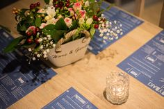 Flowers, restaurant, table, tealight, decoration