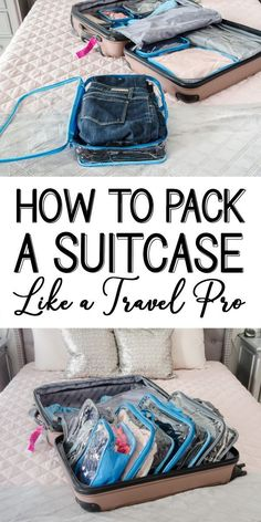Pack Like a Pro Getting ready for a great vacation or business trip? Use these packing tips to organize your suitcase!Getting ready for a great vacation or business trip? Use these packing tips to organize your suitcase! Packing Tips For Vacation, Travelling Tips, Travel Packing, Travel Bags, Packing Cubes, Packing Hacks, Travel Ideas, Travel Plane, Viajes