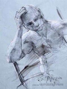 """Between Poses"" by Joe Mac Kechnie        Art Journey Portraits and Prints | NorthLightShop.com"