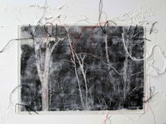 Marian Bosch(South African, b.1962)/  Memory Thread /   mixed media on canvas