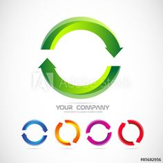 Circle arrow logo recycle