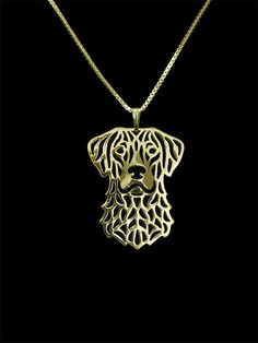 chesapeake bay retriever - gold vermeil (18k gold plated sterling silver) pendant and necklace.