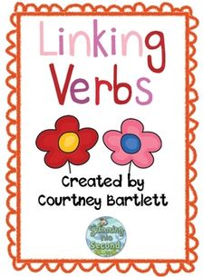 This linking verb pack will help your students understand the concept of linking verbs. Included in this pack are 2 anchor charts, linking verb dic. I School, Middle School, School Ideas, School Stuff, School Projects, Teaching Grammar, Grammar Lessons, Anchor Charts, Baby Activity
