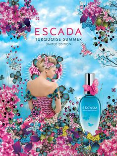 Escada - Turquoise Summer Perfume - Advertising Campaign