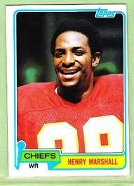 1981 Topps 412 Henry Marshall Kansas City Chiefs Football Card ** Continue to the product at the image link.