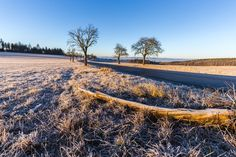 Winter landscape at sunrise and road by ☀️ Tomas Kriz on 500px