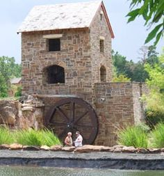 Old Mill Lake Mill House Waterwheel