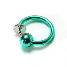 1pc Clip On Hoop Body Nose Lip Bead Ring No Piercing Spring Ear Stud - US$1.75